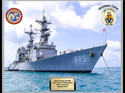 USS Cushing DD 985