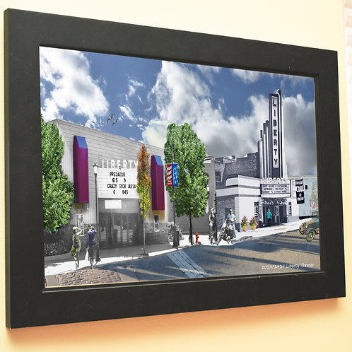 Liberty Theater. Libertyville,  Framed Print #83