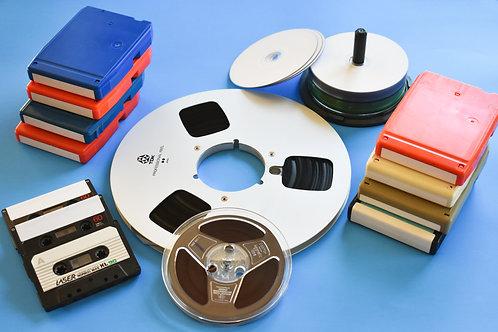 "Digital Image, ""Vintage Recording Tapes"" Print #110"