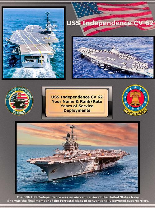 USS Independence CV 62