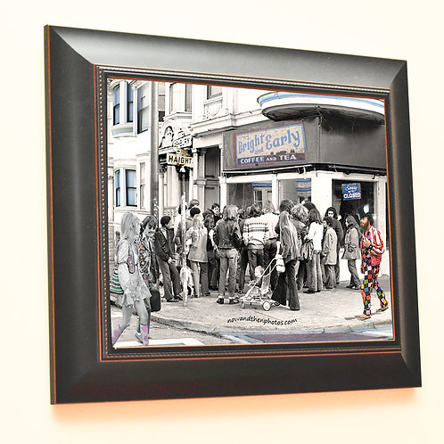Haight Asbury, 1967 with George, Framed Print