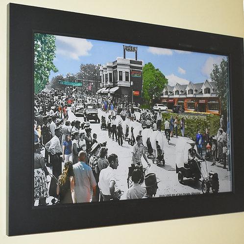 "Glenview, ""4th of July Parade"" Framed Print - Black Frame"