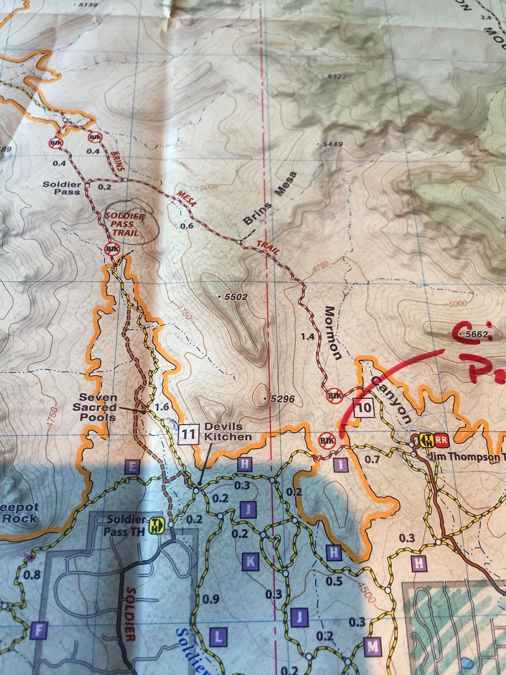 Sedona, travel, spring, travel, red rocks, Arizona, map, hike