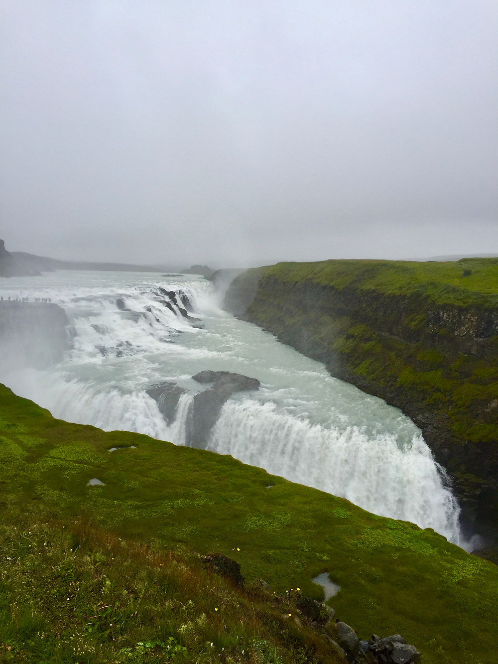 Gullfoss waterfalls, Iceland, Landscape, Golden Circle Road