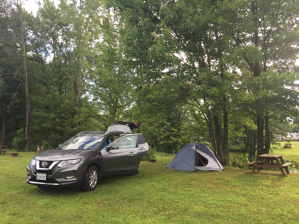 camping, road trip, East Coast, New York State, summer, Nissan Rouge, MEC