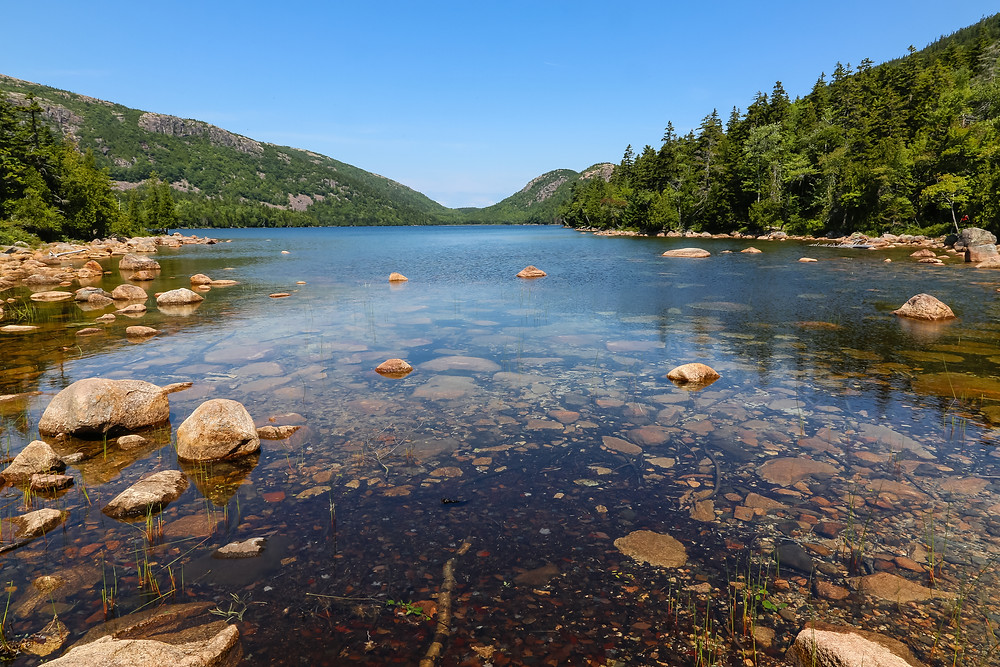 camping, road trip, East Coast, Maine, USA, summer, Acadian National Park, Jordan Pond