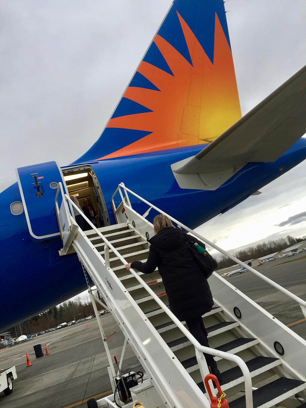 airplane, travel, allegiant air, spring break