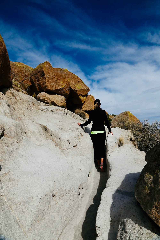 Bandelier National Monument, hike, travel, New Mexico, explore, Tsankawi trail, woman
