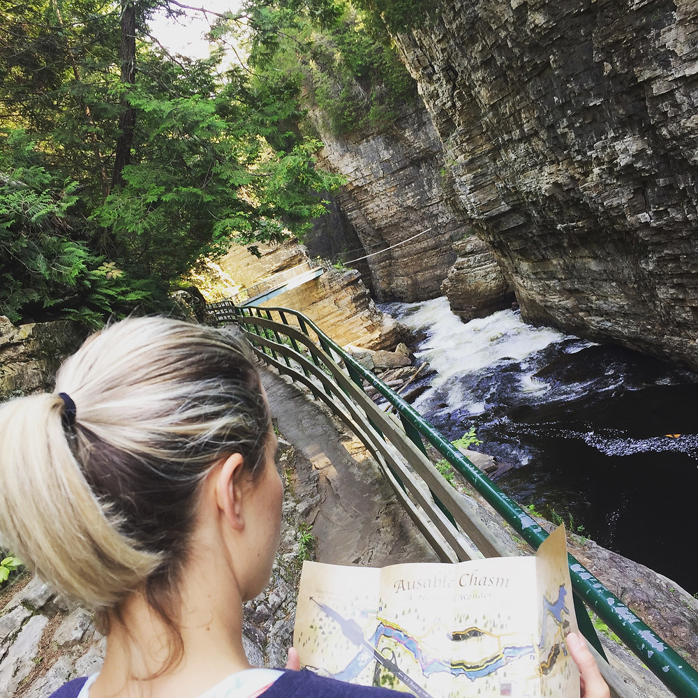 camping, road trip, East Coast, New York State, summer, Ausable Chasm