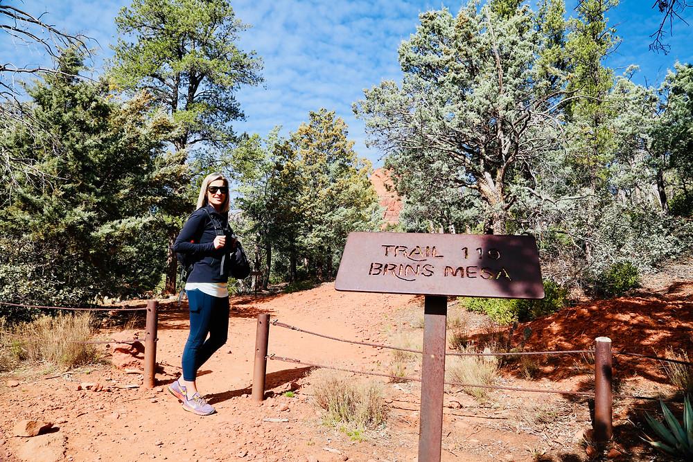 Sedona, travel, spring, travel, red rocks, Arizona, map, hike, Brins Mesa, trail, women