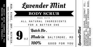 Body Scrub Label