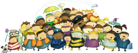 """""""Honk Honk, Beep Beep"""" Children's Book Spread"""
