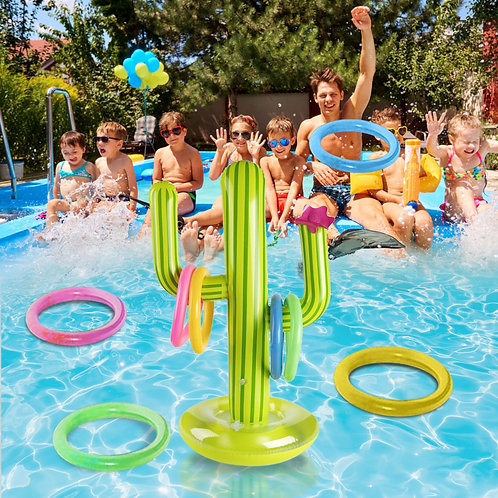 Outdoor Inflatable Cactus Ring Toss Game