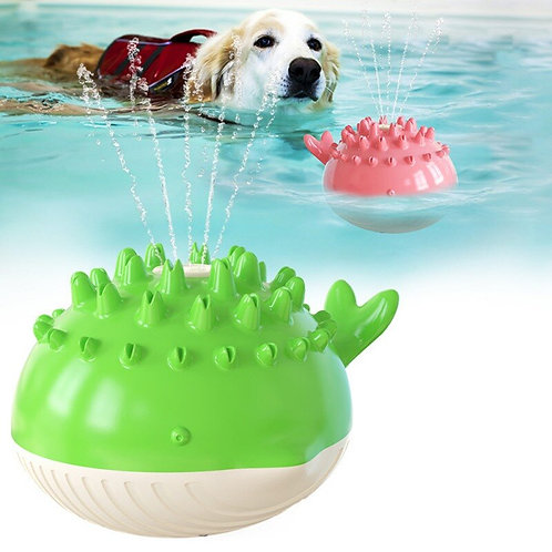 Interactive Water Jet Crocodile Swimming Floating Dog Toy