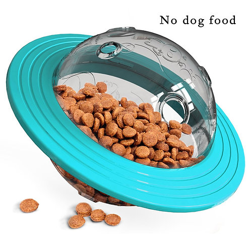 Flying Disc Toy Tumbler interactive Feeder