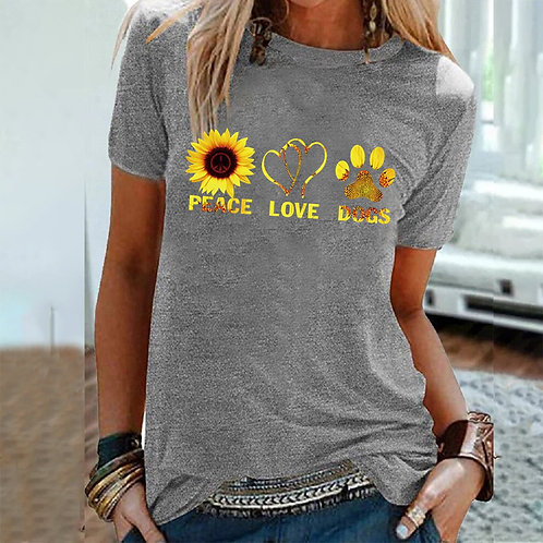 Peace Love Dogs - Summer Graphic Tee