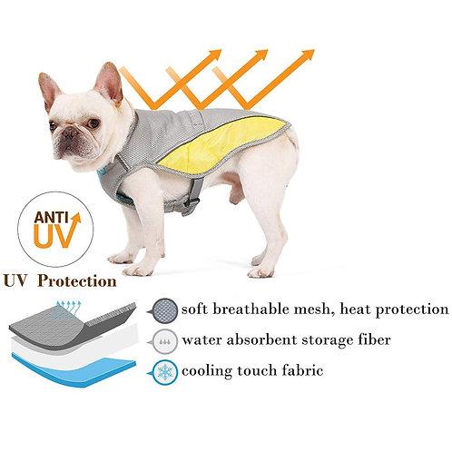 Summer Dog Cooling Vest - Adjustable, Mesh, and Reflective