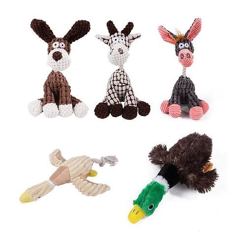 Toy Donkey Corduroy Chew Toy