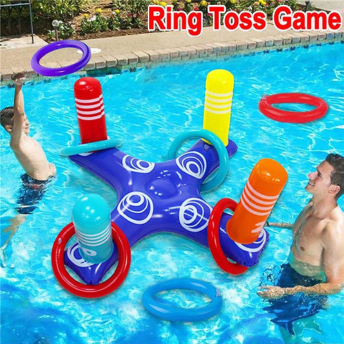Inflatable Cross Ring Toss Game for Swimming Pool
