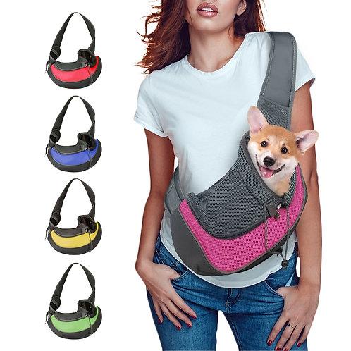 Puppy Carrier S/L Travel Shoulder Bag - Mesh Oxford Single Comfort Sling Tote