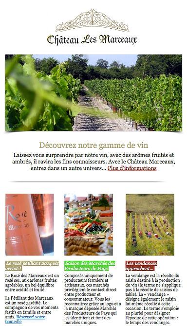 Newsletter Château les Marceaux