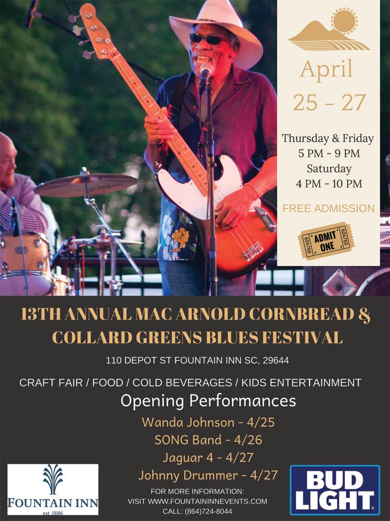 April 27-29, 2019 - Mac's Cornbread Fest