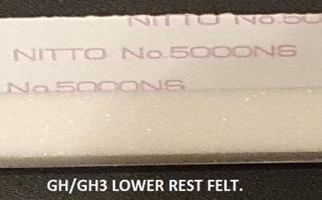 Lower Rest Felt. GH/GH3/NW type for YAMAHA Clavinova