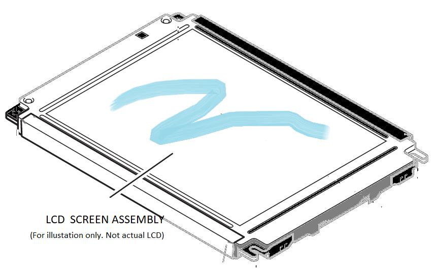 TYROS 5 CRYSTAL DISPLAY LCD MODULE