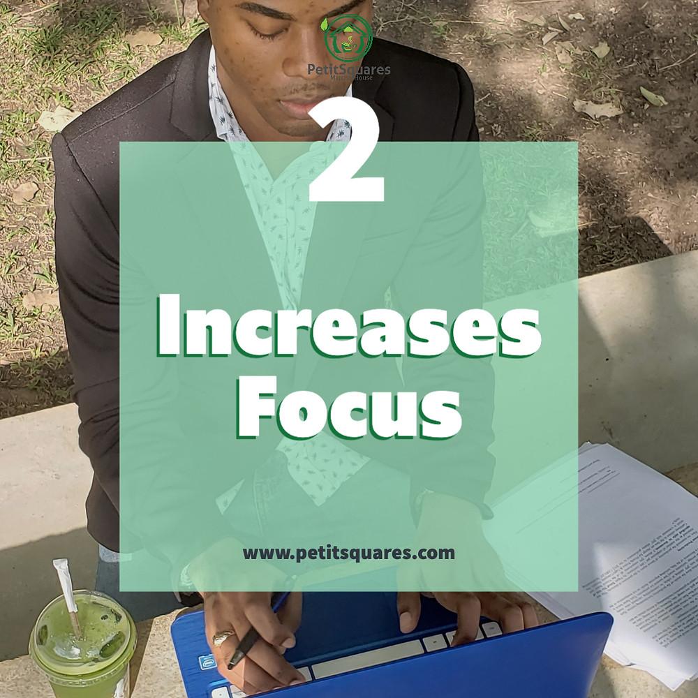 Matcha improves concentration