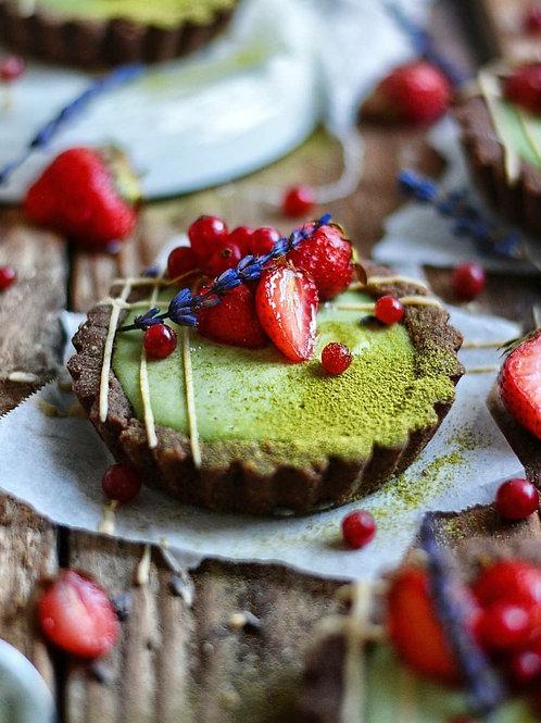 Matcha Mini Cheesecake Tarts