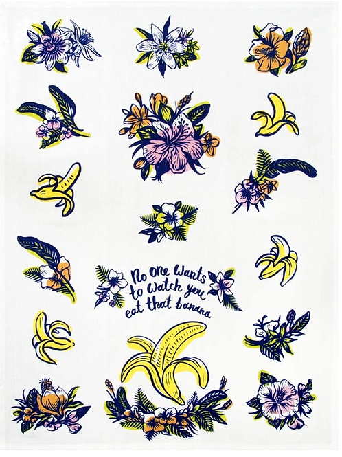 Eat a Banana | Tea Towel