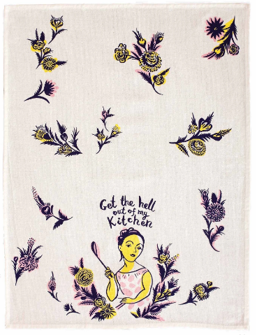 Get The Hell Out   Tea Towel