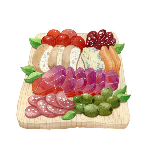 Cold Cuts of Unicorn Meat and Cheeses Platter