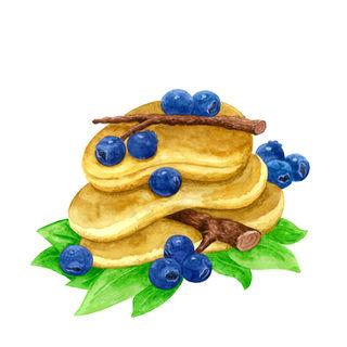 (Fresh) Blueberry Pancakes