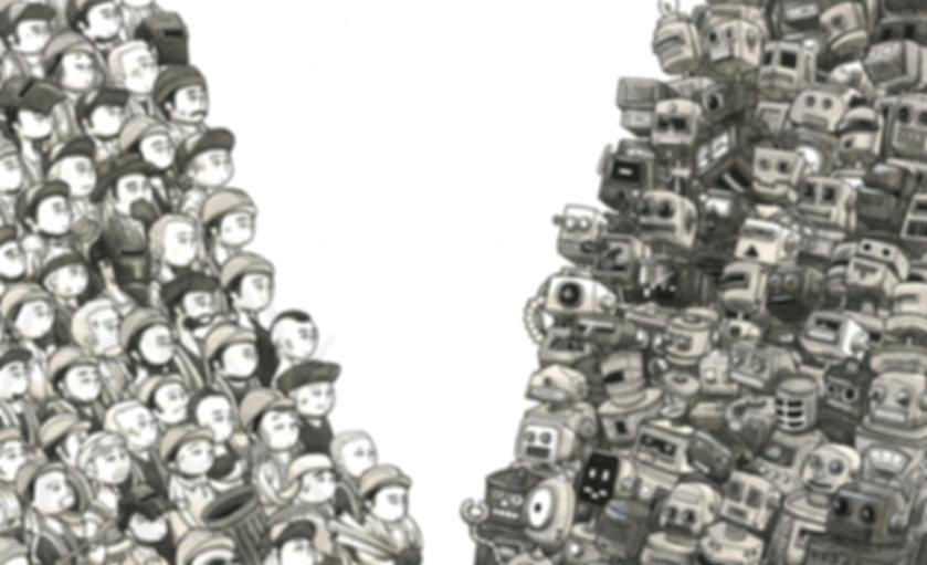 April Fronda Junkmen robots old-school robots