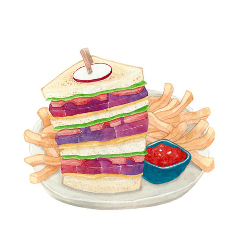 Unicorn Meat Clubhouse Sandwich