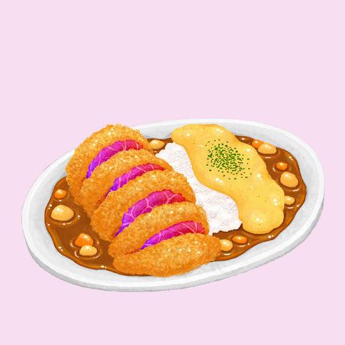 Unicorn Meat Cutlet Curry Rice / Katsu Kare