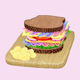 Unicorn Meat Rye Sandwich