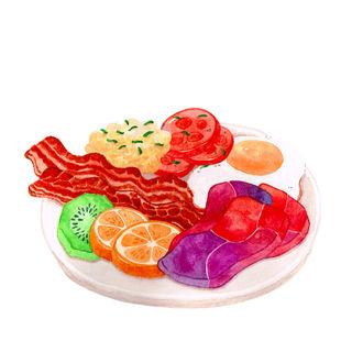Breakfast Plate with Unicorn Meat