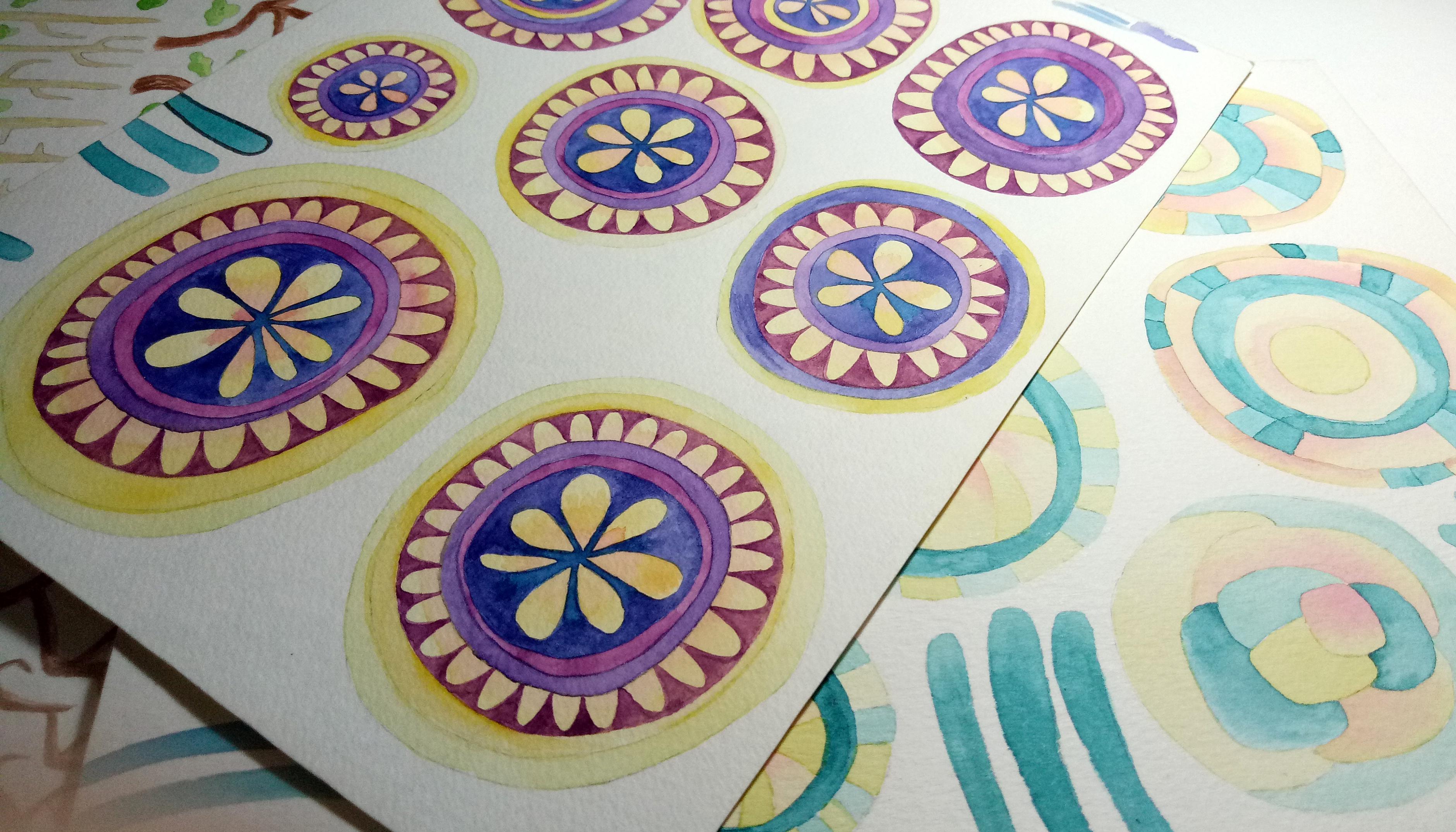watercolor assets