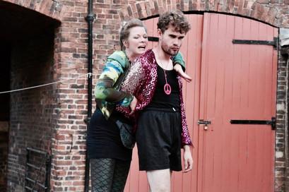 Leanne Rowley as Dame Tobiana; Alex Prescot as Sir Andrew