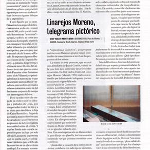 Linarejos Moreno. Telegrama Pictórico [Ramos-Yzquierdo,El Cultural, El Mundo, 4 de Octubre del 2019]