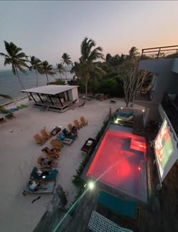 Movie Night on the beach at Mangata Villas