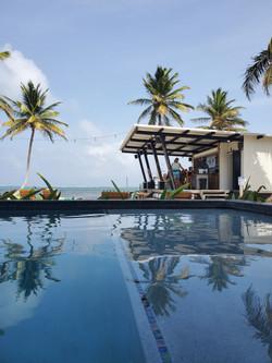 View from the pool at Mangata Villas
