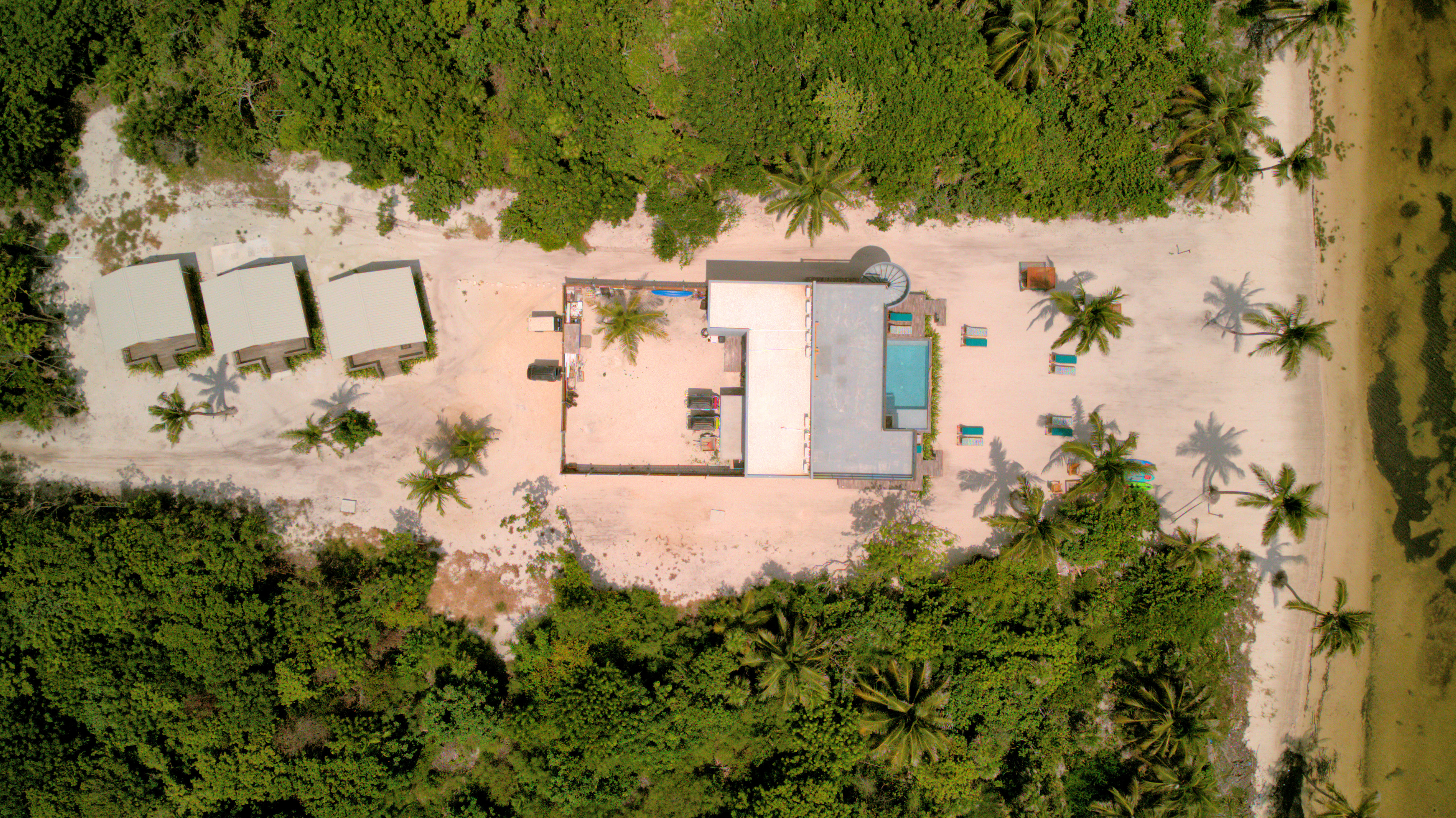 Aerial View showing Casitas