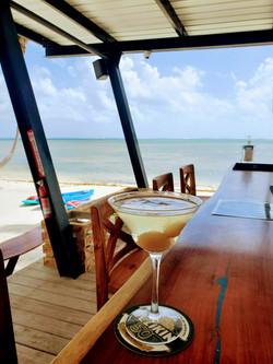 Lychee Martini at Moon Bar, Mangata Villas Belize