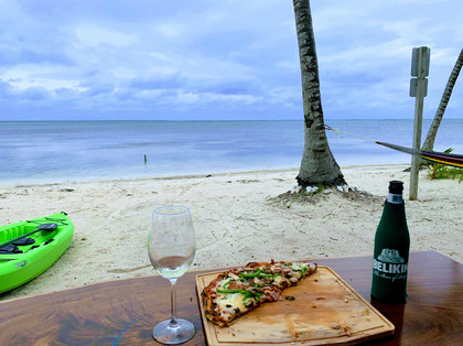 Pizza, wine and a view