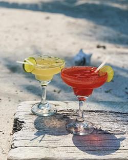 Refreshing frozen cocktails at Moon Bar, Mangata Villas