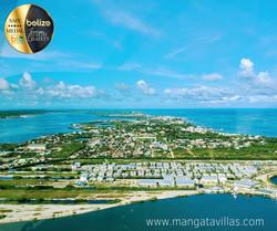 Aerial View of San Pedro, Belize