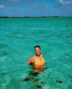 Caribbean green blue waters